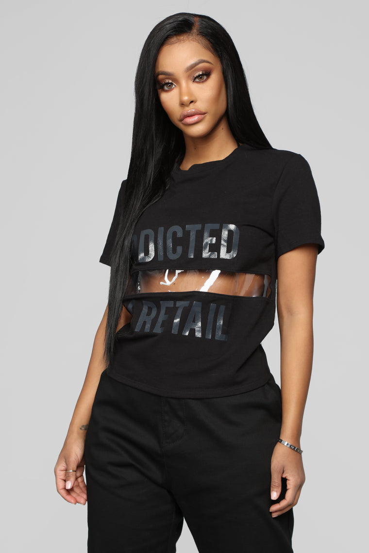 Addicted To Retail Top - Black