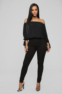 Larger Than Life Crop Top - Black
