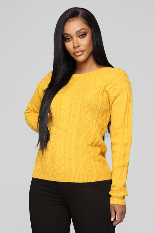 Hold Onto Me Sweater - Mustard
