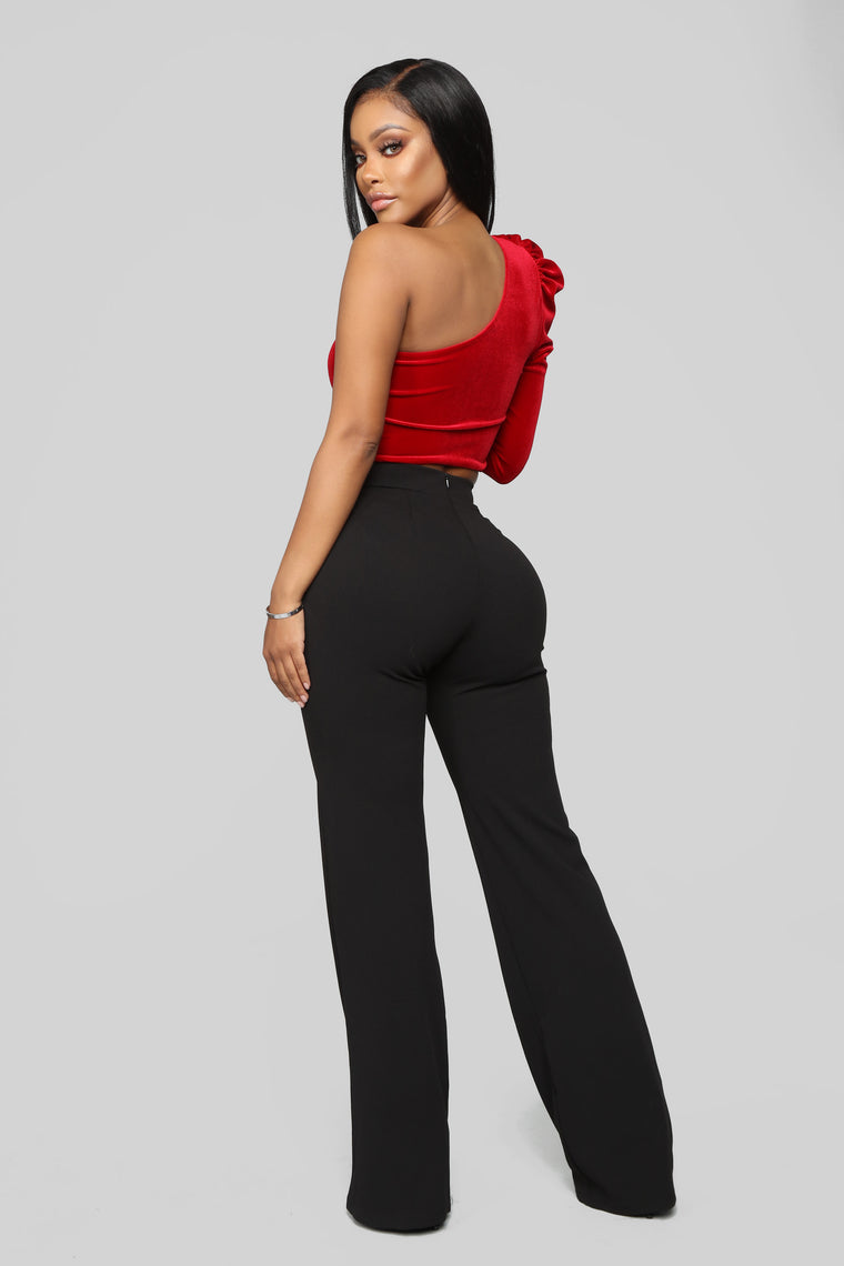 All For One Shoulder Top - Red