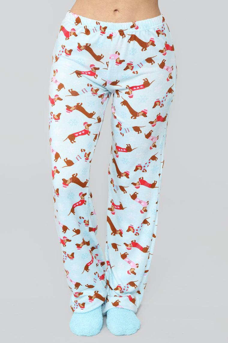 Holiday Tails PJ Set - Blue/Combo
