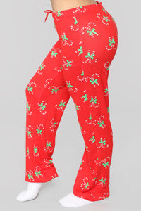 Candy Cane Sweets Pj Set - Red Angle 7