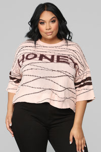 Love On Top Sweater - Peach Angle 8