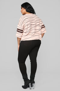 Love On Top Sweater - Peach Angle 13