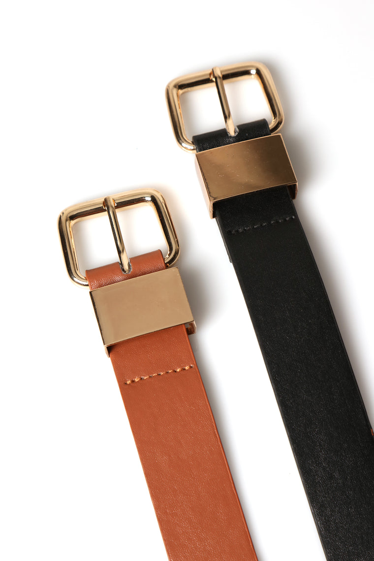 Passed The Bar Belt Set- Black/Brown