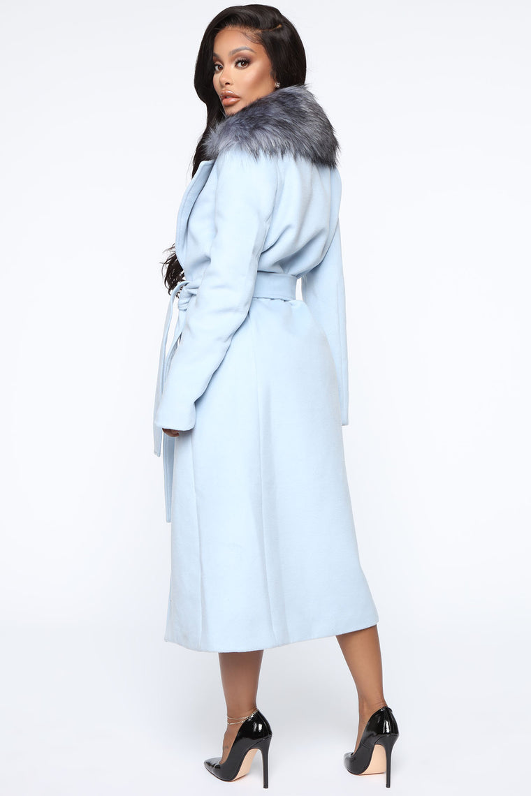 Need You Baby Coat - Blue
