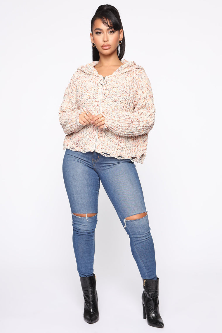 Know Who You Are Cardigan - Natural/Combo