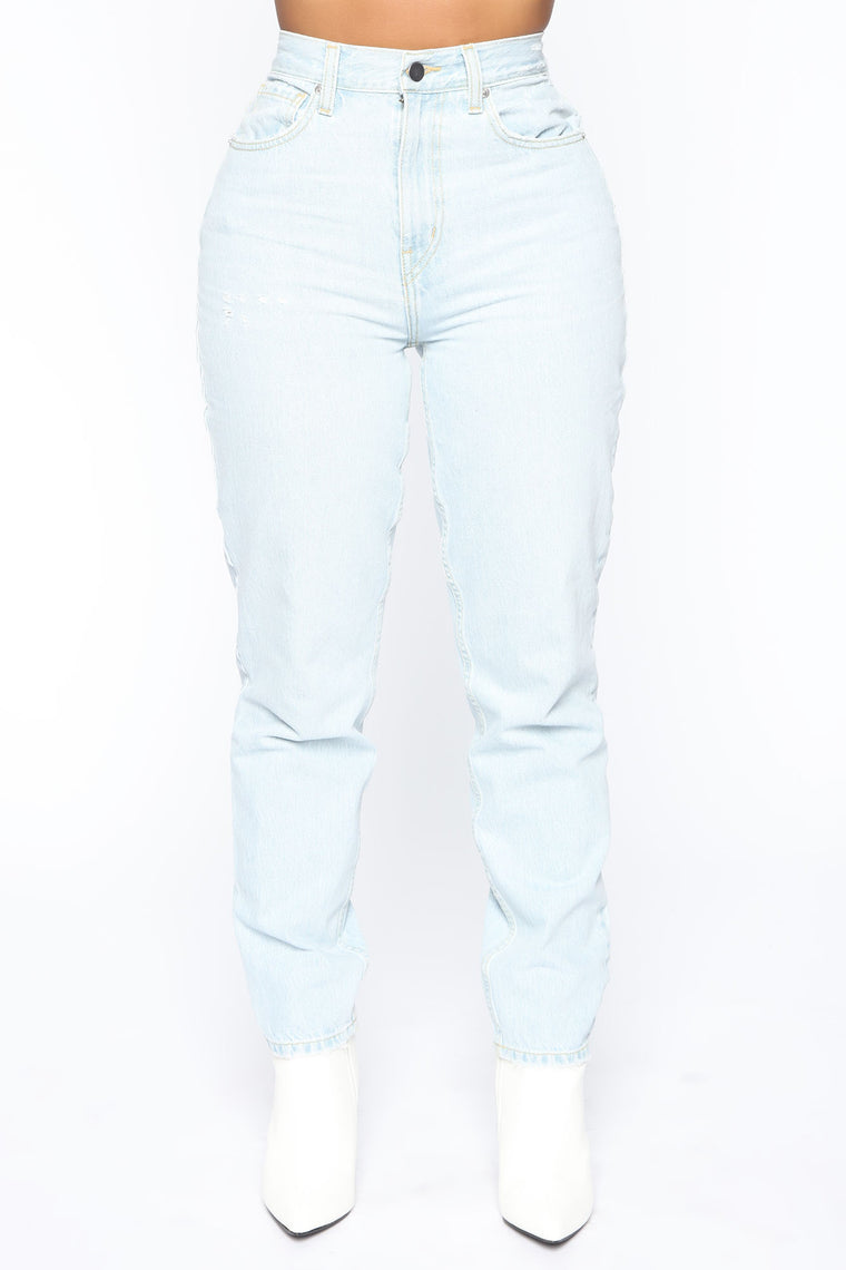 Very Special High Rise Mom Jeans   Light Wash by Fashion Nova