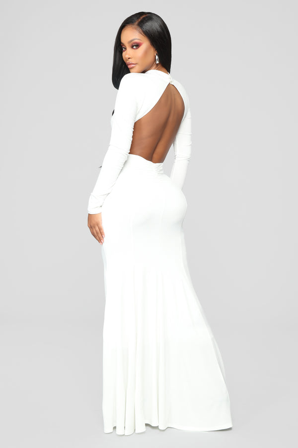 140ef75ce82 Always Flawless Open Back Dress - Off White