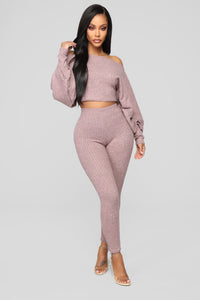 Feelin' Bubbly Pant Set - Blush