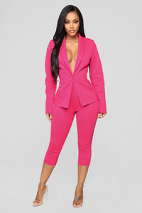 She's Got Her Own Capri Suit Set - Hot Pink