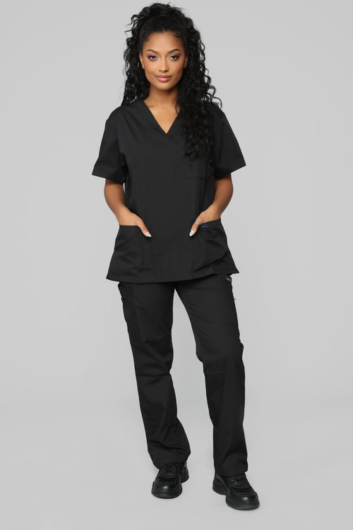 Miracle Worker Classic Scrub Set - Black