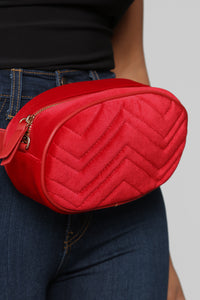 A Red Flag Fanny Pack - Red