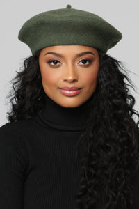 Beauty And The Babe Beret - Olive