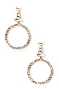 Can Go Around It Earrings - Clear