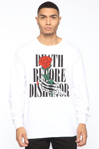 Death Before Dishonor Long Sleeve Tee - White/combo Angle 1