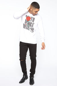 Death Before Dishonor Long Sleeve Tee - White/combo Angle 2