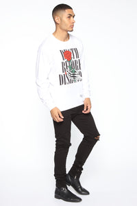 Death Before Dishonor Long Sleeve Tee - White/combo Angle 3
