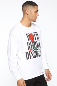 Death Before Dishonor Long Sleeve Tee - White/combo Angle 4