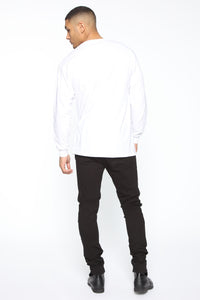 Death Before Dishonor Long Sleeve Tee - White/combo Angle 5