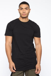 Smile Now Cry Later Side Zip Short Sleeve Tee - Black/White