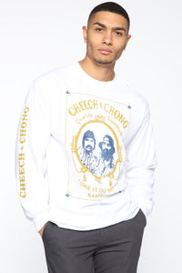 Cheech & Chong Long Sleeve Tee - White/combo Angle 1