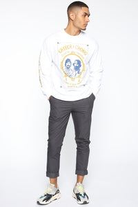 Cheech & Chong Long Sleeve Tee - White/combo Angle 2
