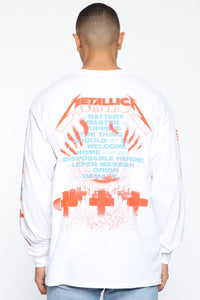 Metallica Long Sleeve Tee - White/combo