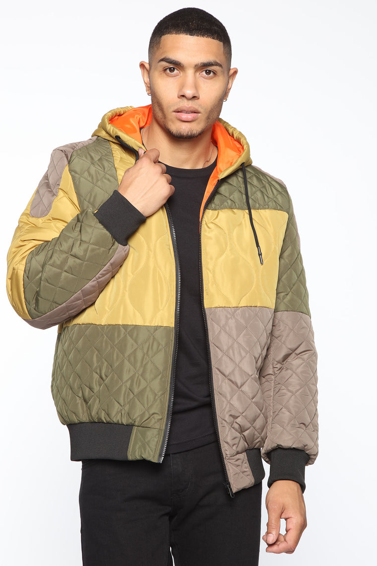 Og Quilted Jacket   Green/Combo by Fashion Nova