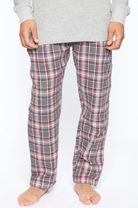 Fire Side PJ Pant - Charcoal/combo