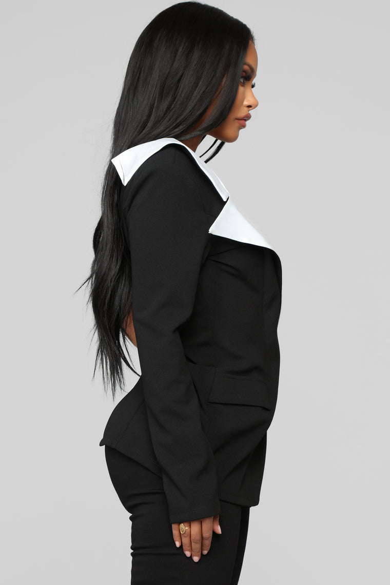 Back To Business Tunic - Black/Combo