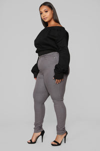 The Right Angle Skinny Jeans - Grey