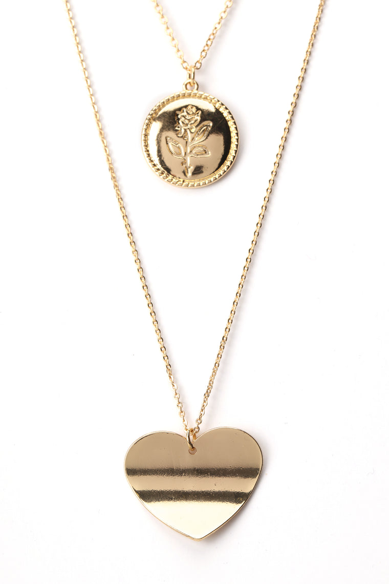 Heart To Admit Necklace - Gold
