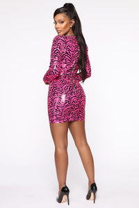 Being Myself Sequin Mini Dress - Pink Angle 5