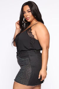 Lace Galore Cami - Black Angle 8