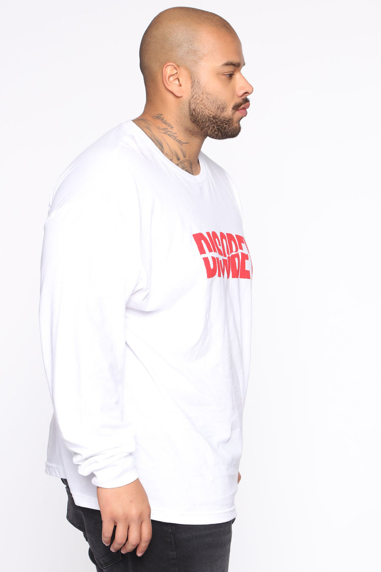 Disobey Long Sleeve Tee - White/combo