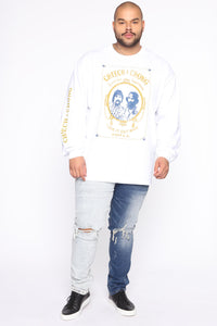Cheech & Chong Long Sleeve Tee - White/combo Angle 7