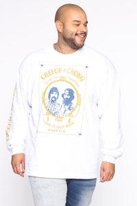 Cheech & Chong Long Sleeve Tee - White/combo Angle 6