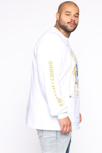 Cheech & Chong Long Sleeve Tee - White/combo Angle 8