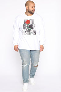 Death Before Dishonor Long Sleeve Tee - White/combo Angle 7