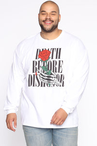 Death Before Dishonor Long Sleeve Tee - White/combo Angle 6