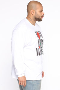 Death Before Dishonor Long Sleeve Tee - White/combo Angle 8