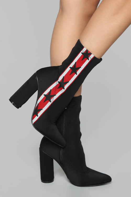 Stars And Stripes Boot - Black
