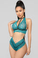 Don't Pretend Bra & Panty Set - Green