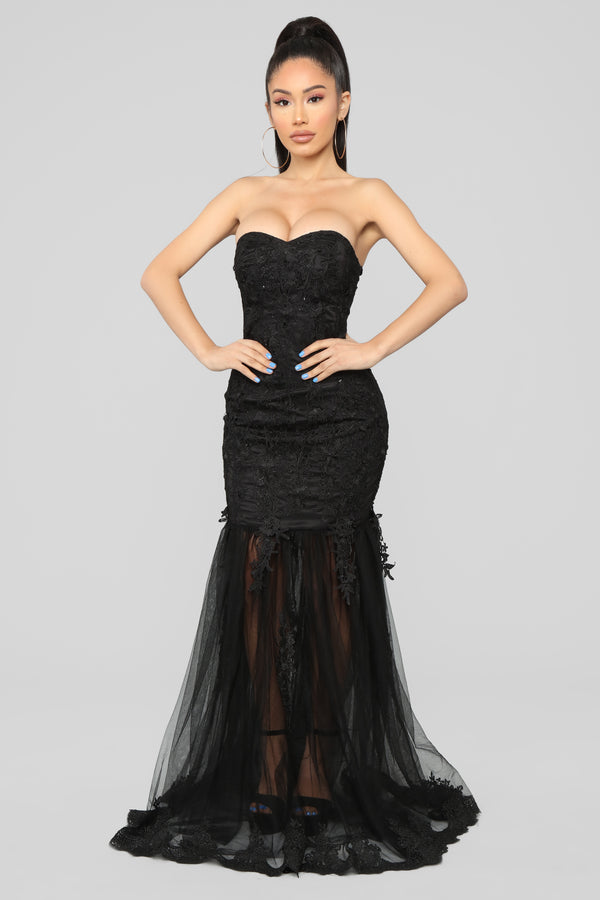 bbcb611fcc0 Leaving Them Stunned Lace Dress - Black
