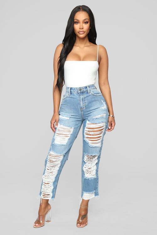 Prescott Boyfriend Jeans - Medium Blue Wash