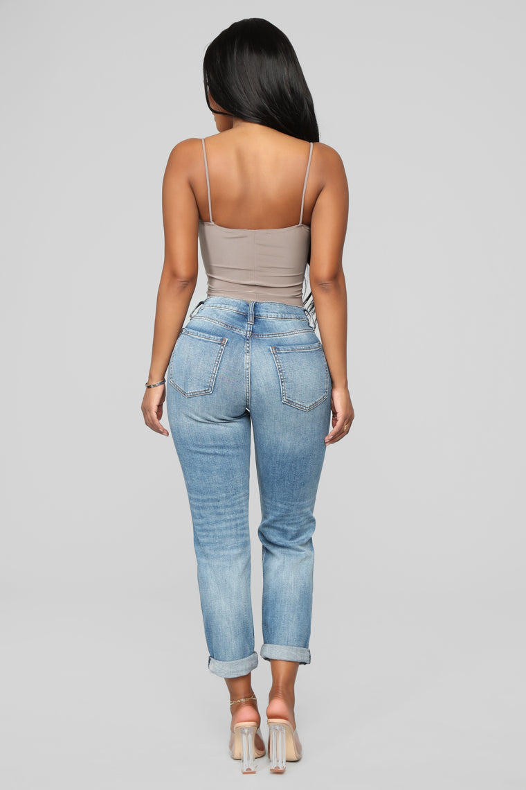 Gerrit Boyfriend Jeans - Medium Blue Wash