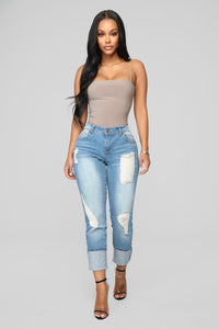 Eddie Boyfriend Jeans - Medium Wash Angle 2