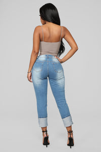 Eddie Boyfriend Jeans - Medium Wash Angle 6