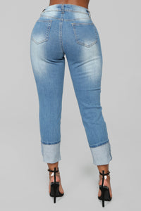 Eddie Boyfriend Jeans - Medium Wash Angle 5